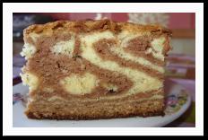 """Готовим пирог на сметане """"Зебра"""""""